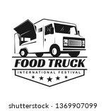 vector logo in monochrome style.... | Shutterstock .eps vector #1369907099