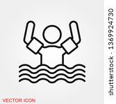 swimming icon vector sign...