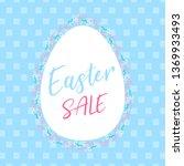 easter poster background | Shutterstock .eps vector #1369933493