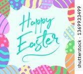 easter poster background | Shutterstock .eps vector #1369933499