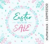 easter poster background | Shutterstock .eps vector #1369933520
