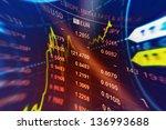 world financial data on a... | Shutterstock . vector #136993688