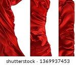 drapery fabrics. red cloths... | Shutterstock .eps vector #1369937453