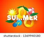 stylish text summer covered... | Shutterstock .eps vector #1369940180