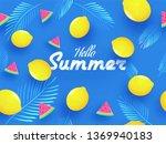 hello summer background concept ...   Shutterstock .eps vector #1369940183