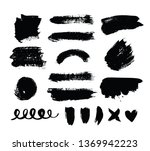 collection of paint  ink brush... | Shutterstock .eps vector #1369942223