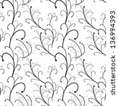vector seamless branch pattern | Shutterstock .eps vector #136994393