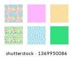easter background seamless... | Shutterstock .eps vector #1369950086