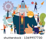 successful business man with... | Shutterstock .eps vector #1369957730