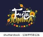stylish text festa junina... | Shutterstock .eps vector #1369958126