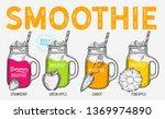 drink menu smoothie... | Shutterstock .eps vector #1369974890