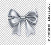 beautiful silver ribbon bow... | Shutterstock .eps vector #1369981070