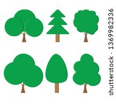 set of tree icon isolated on a...   Shutterstock .eps vector #1369982336