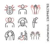 parkinson's disease. symptoms ... | Shutterstock .eps vector #1369982783