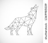 Wolf Icon. Abstract Triangular...