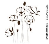 Poppy Design  Flowers Contour...