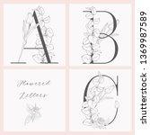 vector hand drawn flowered... | Shutterstock .eps vector #1369987589