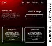 dark green  red vector ui ux...