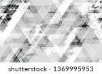 distressed grunge geometric... | Shutterstock .eps vector #1369995953