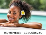 portrait of young black woman...   Shutterstock . vector #1370005250