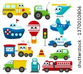 vector set of kawaii... | Shutterstock .eps vector #1370010806