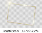 gold shiny glowing vintage... | Shutterstock .eps vector #1370012993