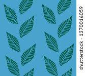 blue green leaf grass flow... | Shutterstock .eps vector #1370016059