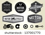 vintage motorcycle badge | Shutterstock .eps vector #137001770