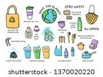 set zero waste elements fabric... | Shutterstock .eps vector #1370020220