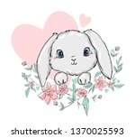 Cute Bunny Vector Illustration...