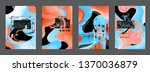 covers templates set with...   Shutterstock .eps vector #1370036879