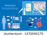 cardiopulmonary bypass heart...   Shutterstock .eps vector #1370040170