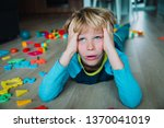 sad child  stress  exhaustion... | Shutterstock . vector #1370041019