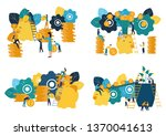 set of vector flat... | Shutterstock .eps vector #1370041613