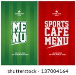 sports cafe menu cards design...