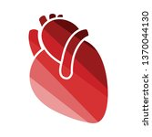 human heart icon. flat color... | Shutterstock .eps vector #1370044130