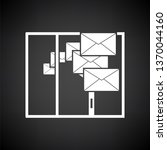 mailing icon. white on black... | Shutterstock .eps vector #1370044160