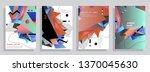 template brochures  flyers ...   Shutterstock .eps vector #1370045630