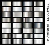vector collection of silver... | Shutterstock .eps vector #1370059589