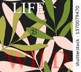 card on tropical elegant... | Shutterstock .eps vector #1370079470