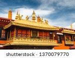 the golden rooftops of jokhang... | Shutterstock . vector #1370079770