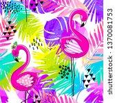 fashion tropics funny... | Shutterstock .eps vector #1370081753
