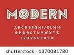 geometric font inside line bold ... | Shutterstock .eps vector #1370081780