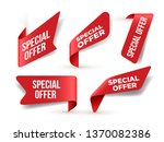 set of red banner special offer.... | Shutterstock .eps vector #1370082386
