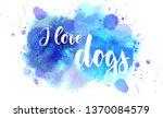 i love dogs   handwritten... | Shutterstock .eps vector #1370084579