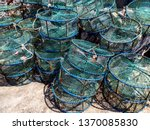 Stack Of Empty Crab Pots On A...