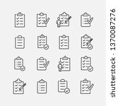 clipboard related vector icon... | Shutterstock .eps vector #1370087276