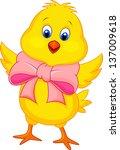cute baby chicken cartoon | Shutterstock .eps vector #137009618