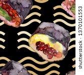watercolor sushi set of...   Shutterstock . vector #1370101553