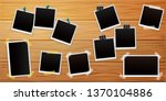 set of retro photo frames on... | Shutterstock .eps vector #1370104886